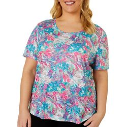 Reel Legends Plus Moving Floral Burnout T-Shirt