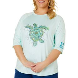 Reel Legends Womens Keep It Cool Sketchy Turtle Top