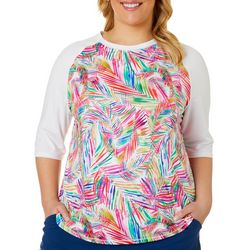 Plus Keep It Cool Jazzy Palms Top