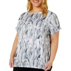 Reel Legends Plus Reel-Tec Layered Leaves Print Top