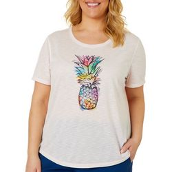 Reel Legends Plus Reel Watercolor Pineapple Graphic T-Shirt