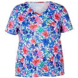 Plus Reel-Tec Colorful Floral Print Top
