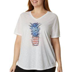 Plus Patriotic Pineapple Graphic T-Shirt