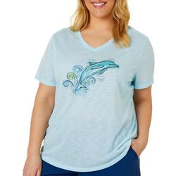 Reel Legends Plus Sketchy Dolphin T-Shirt