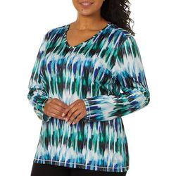 Reel Legends Plus Reel-Tec Graphic Stripe Long Sleeve Top