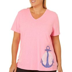 Reel Legends Plus Reel Fresh Solid Anchor T-Shirt