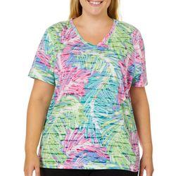 Reel Legends Plus Reel Fresh Sketched Palms Burnout T-Shirt