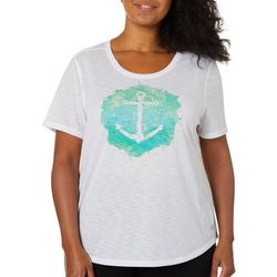 Reel Legends Plus Reel Fresh Anchor Graphic T-Shirt