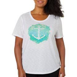 Reel Legends Plus Reel Fresh Anchor Graphic T-Shirt
