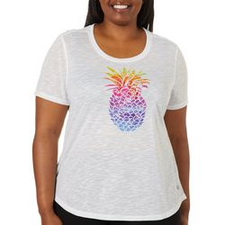 Reel Legends Plus Sketched Pineapple T-Shirt
