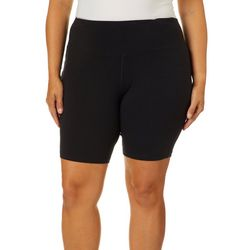 Vogo Plus Black Biker Shorts With Pockets