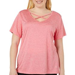 VOGO Plus Heathered Crisscross Performance T-Shirt