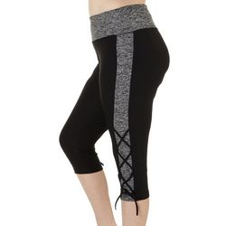 VOGO Plus Colorblock Lace-Up Hem Performance Capris