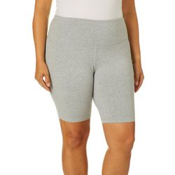 VOGO Plus Solid Heathered Knit Bike Shorts
