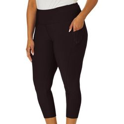 VOGO Plus Solid Mesh Pocket Performance Capris