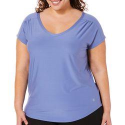 VOGO Plus Solid V-Neck Performance T-Shirt