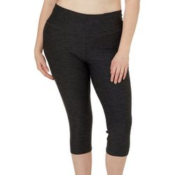 Absolutely Fit Plus Heathered Performance Capris