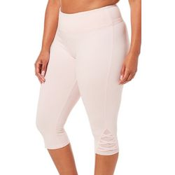 Absolutely Fit Plus Crisscross Mesh Hem Performance Capris