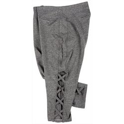 VOGO Plus Heathered Knit Lattice Bike Shorts