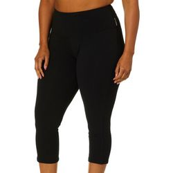 RBX Plus Tummy Control Solid Capri Leggings