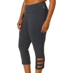 RBX Plus Solid Caged Leg Capri Leggings