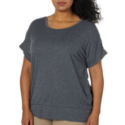 RBX Plus Heathered Mesh Back Short Sleeve Top