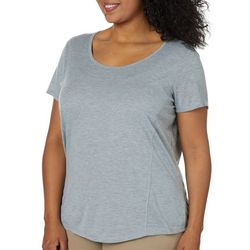RBX Plus Heathered Open Back Short Sleeve Top