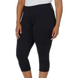 RBX Plus Solid Capri Leggings