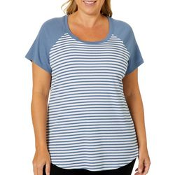 RBX Plus Colorblock Striped Short Sleeve Top