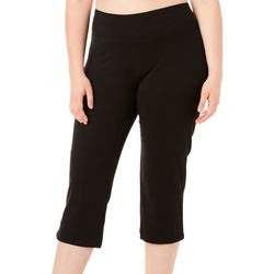 RBX Plus Solid Flare Capri Leggings