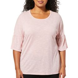 Harmony Balance Plus Heathered Bell Sleeve Slub Top