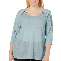 Harmony Balance Plus Heathered Crisscross Shoulder Top