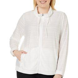 RBX Plus Striped Mesh Zip Up Jacket