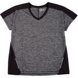 RBX Plus Cross Slub Colorblocked V-Neck Top