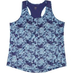 RB3 Active Plus Floral Mesh Panel Tank Top