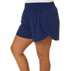 Plus Solid Print Athletic Shorts