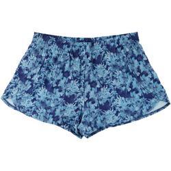 Plus Floral Print Athletic Shorts