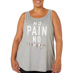 M Plus No Pain No Champagne Sleeveless T-Shirt