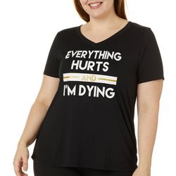 Mic & Jax Plus Everything Hurts Short Sleeve Top