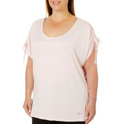 Marika Plus Summit Ruched Shoulder Top