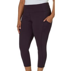 Marika Plus Hunter Side Pocket Solid Leggings