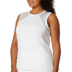 Sofibella Plus Solid Knit Sleeveless Active Top