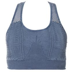 Love. Life. Live  Plus Solid Eyelet Racerback Sports Bra