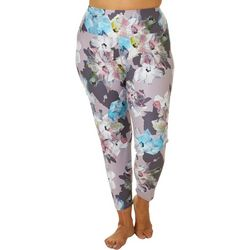 Love. Life. Live Plus Floral Print Crop Leggings