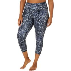 Love. Life. Live Plus Snakeskin Print Capri Leggings