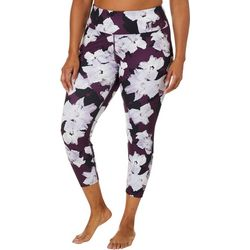 Love. Life. Live Plus Floral Print Capri Leggings