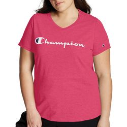 Champion Plus Solid Logo Jersey Short Sleeve Top