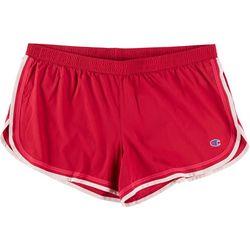 Champion Womens Solid Stripe Hem Varsity Shorts