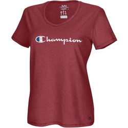 Champion Plus Logo Active V-Neck T-Shirt