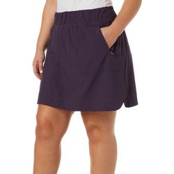 Brisas Plus Solid Pull-On Skort